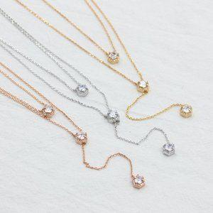 Henri Bendel PV Halo Y Double Necklace